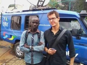 Meffe with colleague from Nation Media group