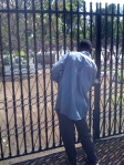 Joseph unlocks gate