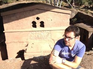 Contemplative at Lalibela's rock-hewn churches