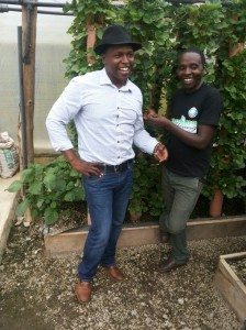 Daniel Kimani with Mkulima Young founder Joseph Macharia