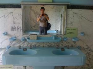 In Emperor Haile Selassie's palatial bathroom.