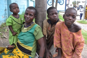 A family living on the streets of Dar es Salaam. Courtesy of Teri Fikowski