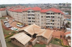 A balcony view of the KENSUP Soweto East housing project Courtesy of MUST Kenya