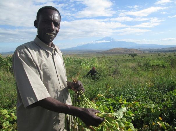 Leonard Kinyamagoha and his beans