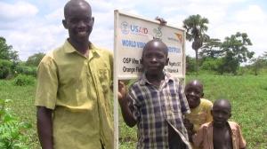 OFSP young farmers in Atego B village N Uganda