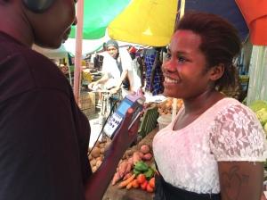 Rhoda Ateng at Bor market