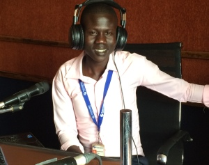 Majok Guet on air with Mingkaman Together