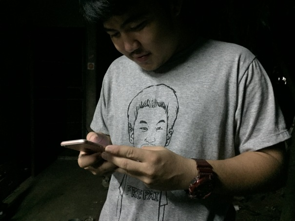 Free Pai Dao Din tee shirt worn by a democracy activist in Khon Kaen Thailand