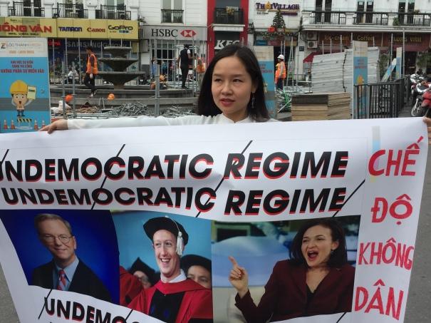 Mai Khoi protest in Hanoi