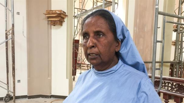 Sister Christine supports survivors in need and Muslims facing backlash following ISIL-claimed attack that killed 253.